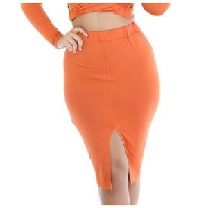 Dresses & Skirts - Orange Midi Skirt